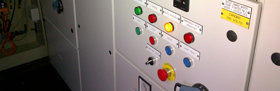MCC installed for the control of screening equipment